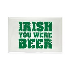 Irish you were beer St. Patrick's day Rectangle Ma