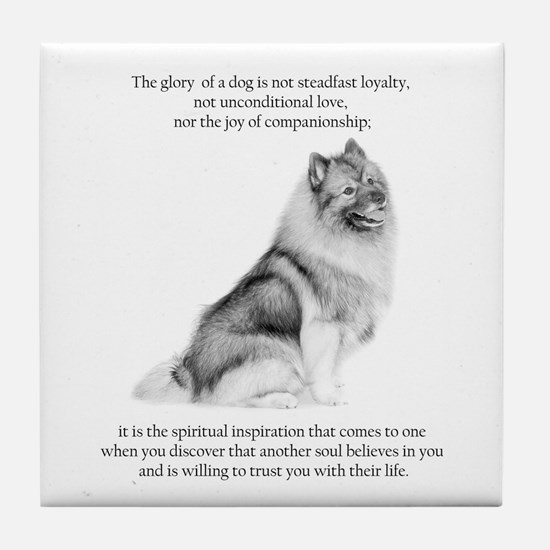 Keeshond Glory Tile Coaster