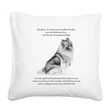 Keeshond Glory Square Canvas Pillow
