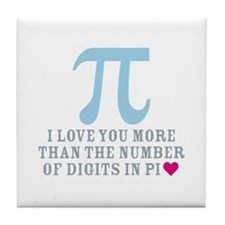 Digits in Pi Tile Coaster