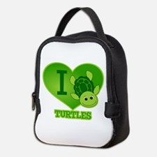 I Love Turtles Neoprene Lunch Bag