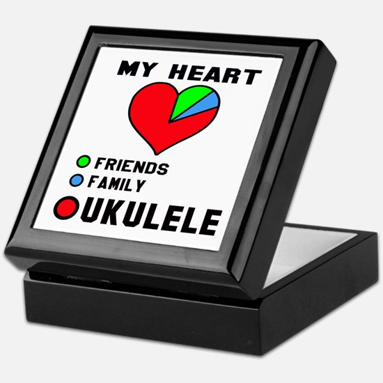 My Heart Friends Family and Ukulele Keepsake Box