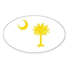 Palmetto and Crescent SC Oval Decal