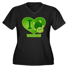 I Love Turtles Plus Size T-Shirt
