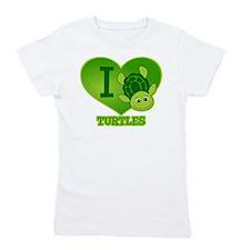 I Love Turtles Girl's Tee