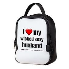 """Love My Wicked Sexy Husband"" Neoprene Lunch Bag"