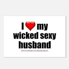"""Love My Wicked Sexy Husband"" Postcards (Package o"