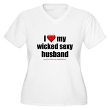 """Love My Wicked Sexy Husband"" T-Shirt"
