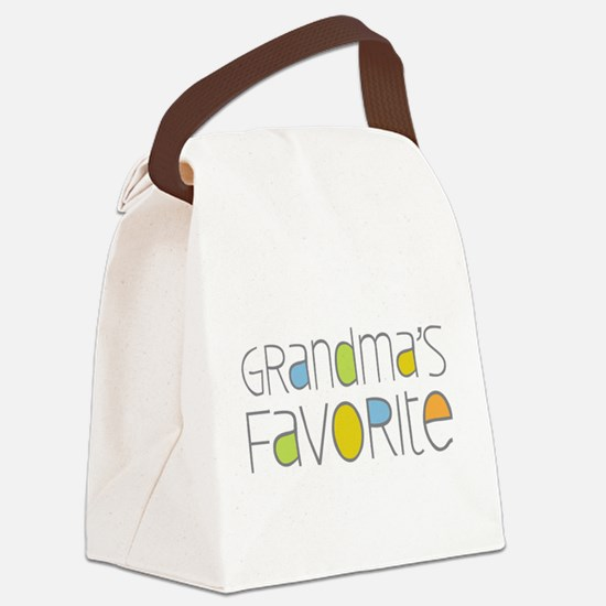 Grandmas Favorite Canvas Lunch Bag
