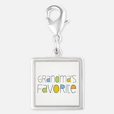 Grandmas Favorite Silver Square Charm