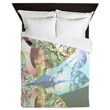 Wings of Angels Amethyst Crystals Queen Duvet