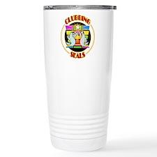 Clubbing Seals Disco Dancing Travel Mug