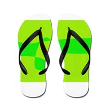 Beautiful Green Flip Flops