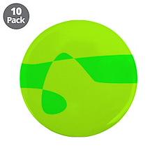 "Beautiful Green 3.5"" Button (10 pack)"