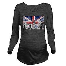 Funny London Long Sleeve Maternity T-Shirt