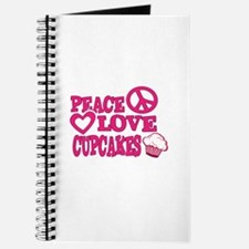 Peace Love Cupcakes Journal