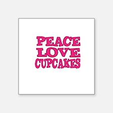 Peace Love Cupcakes Sticker