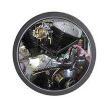 Indian Motorcycle Engine Wall Clock