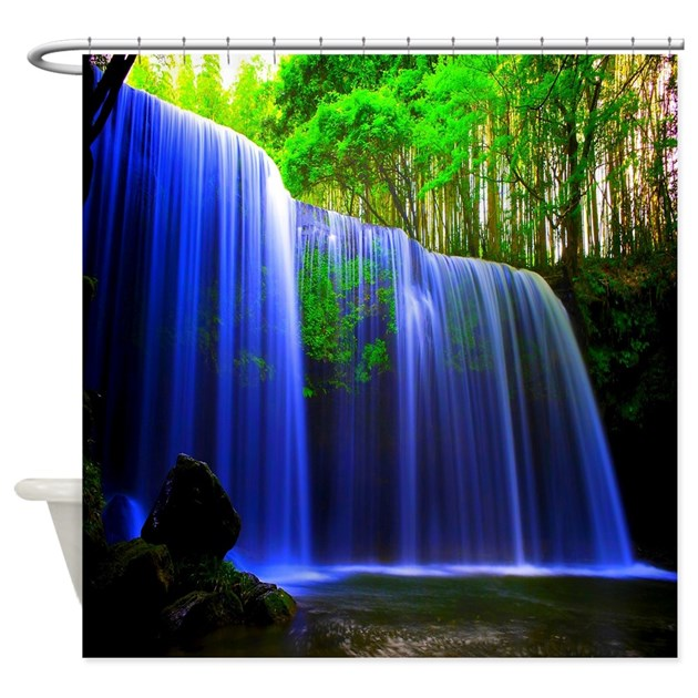 Water Fall In Paradise Shower Curtain By Zazzlinghomedecor
