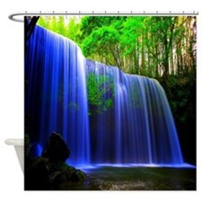 Water Fall In Paradise Shower Curtain