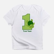 Personalized Turtle 1st Birthday Infant T-Shirt