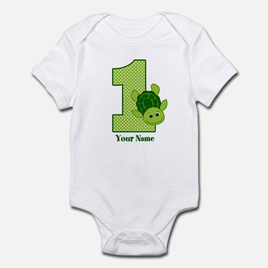 Personalized Turtle 1st Birthday Infant Bodysuit