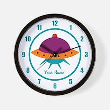 Alien Space Ship Kids Wall Clock