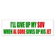 SUV - Al Gore Global Warming Bumpersticker