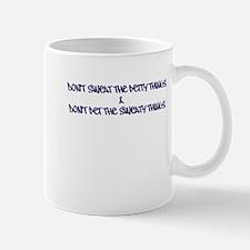 Dont sweat the petty things - purple Mugs