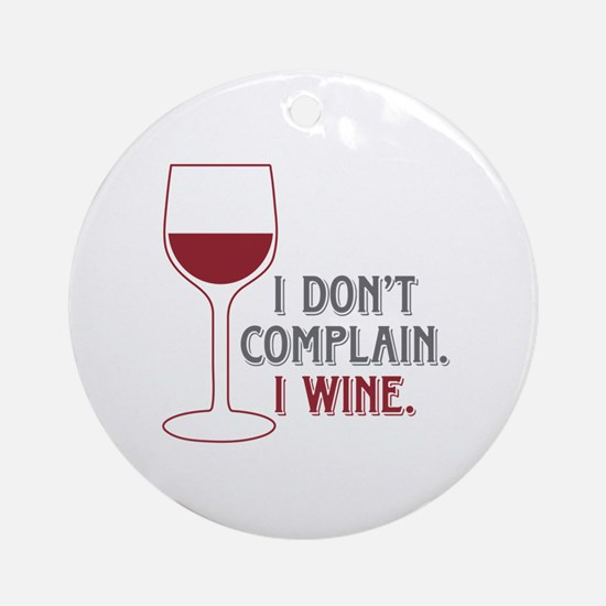 I Wine Ornament (Round)