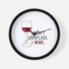 I Wine Wall Clock