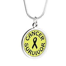 CANCER SURVIVOR Silver Round Necklace