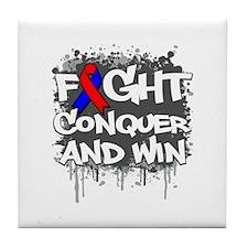 Pulmonary Fibrosis Fight Tile Coaster