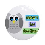 Hoot for football! Ornament (Round)