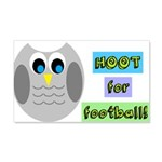 Hoot for football! Wall Decal
