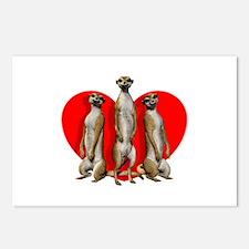 Heart Meerkats Postcards (Package of 8)