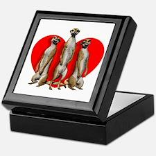 Heart Meerkats Keepsake Box