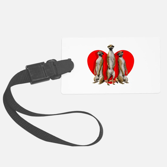 Heart Meerkats Luggage Tag