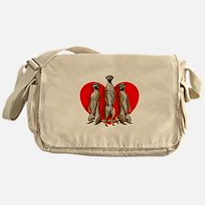 Heart Meerkats Messenger Bag
