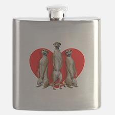 Heart Meerkats Flask