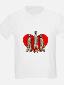 Heart Meerkats T-Shirt