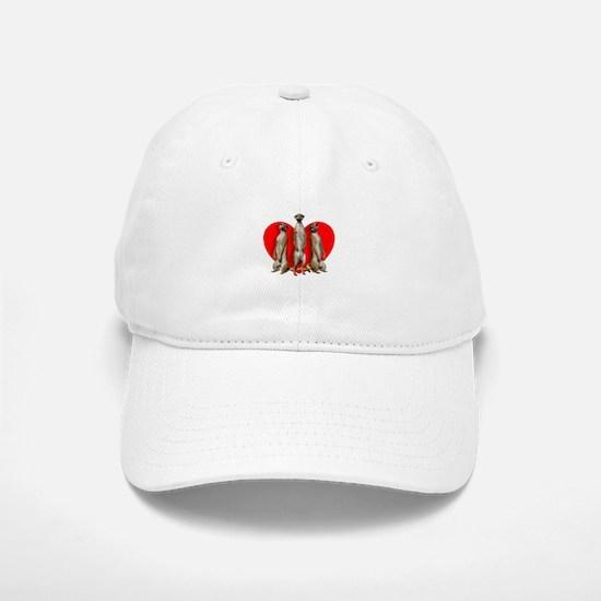 Heart Meerkats Baseball Cap