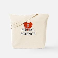 I Love Social Science Tote Bag