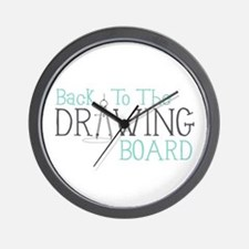 Back To The Drawing Board Wall Clock