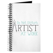 Do Not Disturb Artist At Work Journal