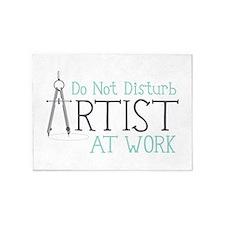 Do Not Disturb Artist At Work 5'x7'Area Rug
