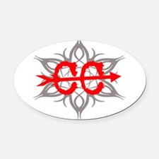 Cross Country Tribal Oval Car Magnet