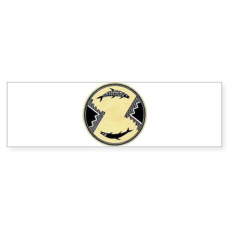 MIMBRES CLOCKWISE FISH BOWL DESIGN Sticker (Bumper