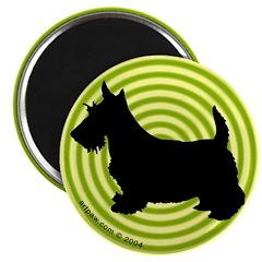Op Art Scottish Terrier Magnet (10 pk)
