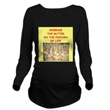 cribbage Long Sleeve Maternity T-Shirt